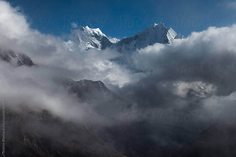 Mt.Kangtega and Mt.Thamserku, Everest Region, Sagarmatha National Park, Nepal.  by Shikhar Bhattarai for Stocksy United