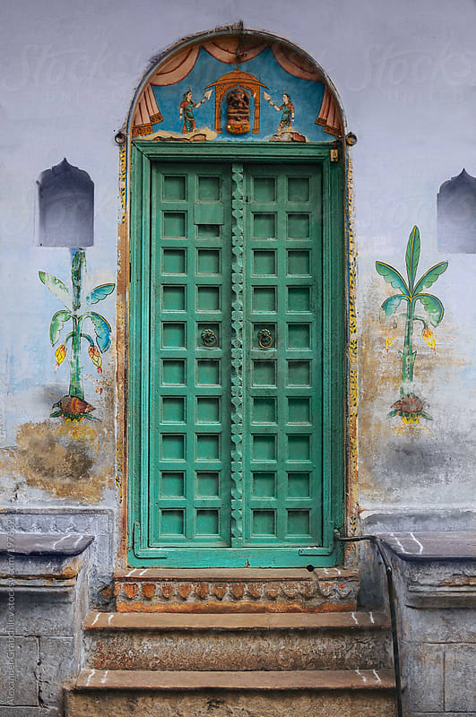 Traditional Indian Door by Alexander Grabchilev for Stocksy United