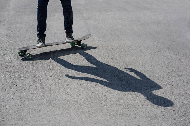 Skateboarding man by Milles Studio for Stocksy United