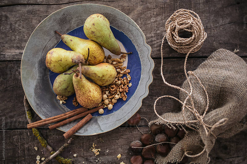 Pears and Walnuts by Lumina for Stocksy United