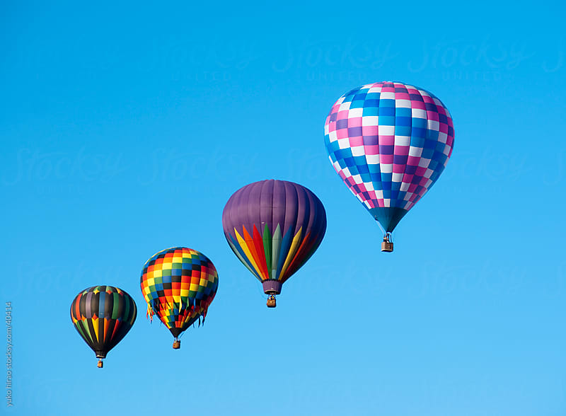 Traveling hot air balloons by yuko hirao for Stocksy United