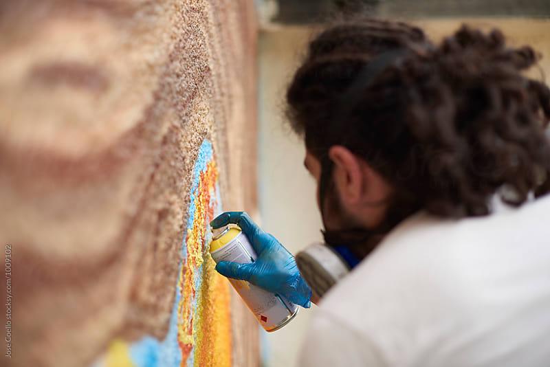 Graffiti artist by Jose Coello for Stocksy United