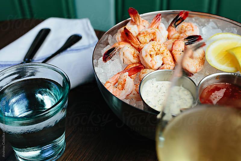 Bowl of Shrimp by Andrew Cebulka for Stocksy United