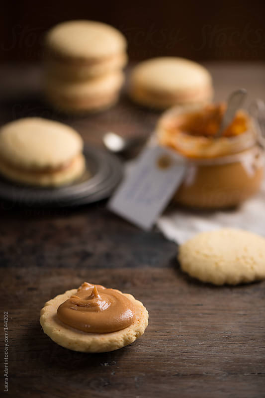 alfajores with dulce de leche by Laura Adani for Stocksy United