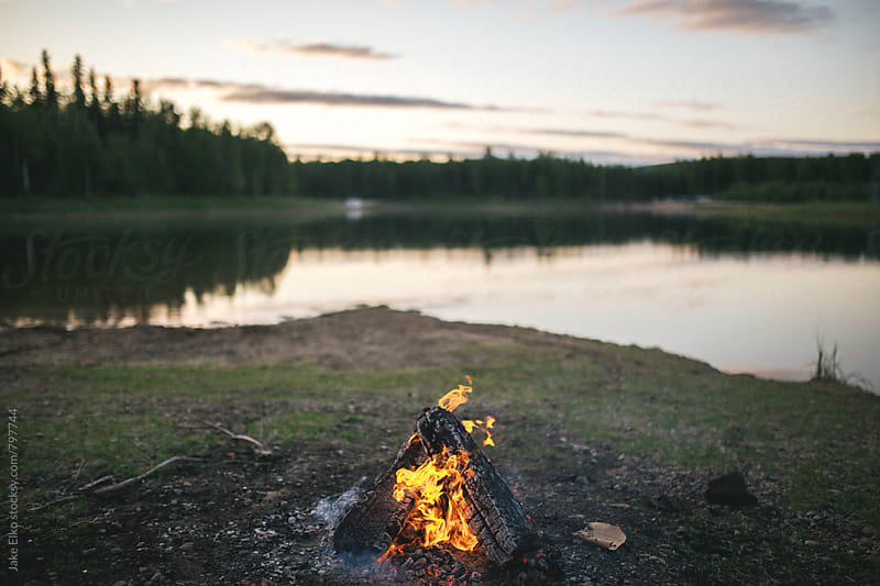Campfire Horizontal by Jake Elko for Stocksy United