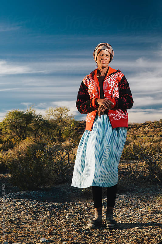 Portrait of a Namibian Nama woman by Micky Wiswedel for Stocksy United