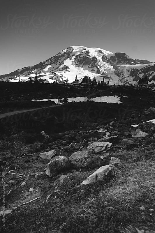Hiking Trail at Mount Rainier National Park in Washington by michelle edmonds for Stocksy United