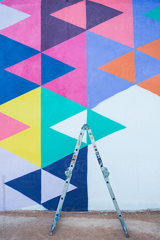 Graffiti ladder by Blai Baules for Stocksy United