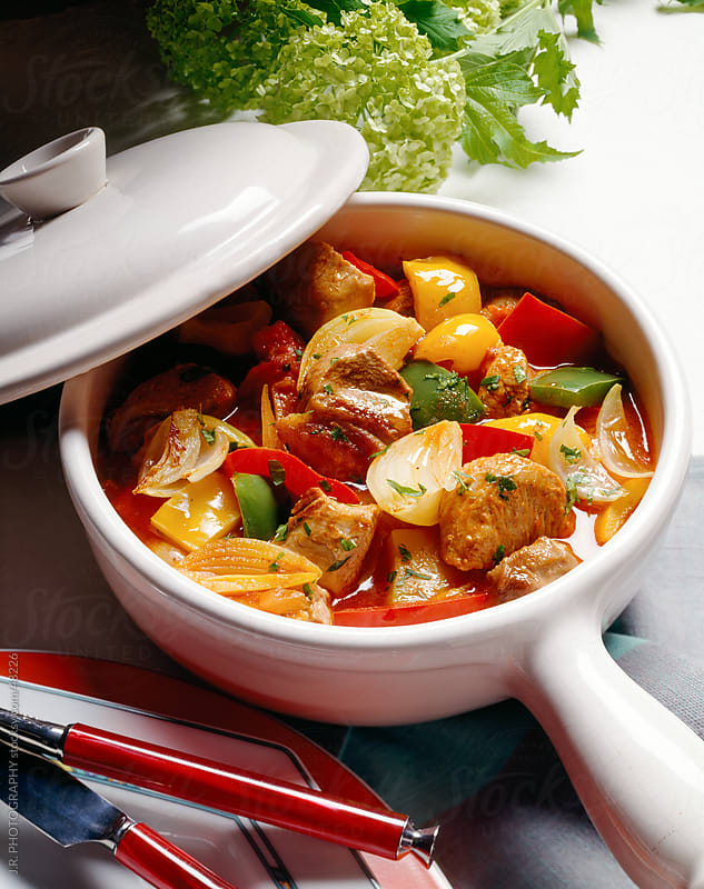 Chicken Stew in pot by J.R. PHOTOGRAPHY for Stocksy United