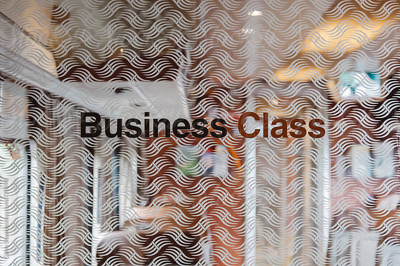 Door to Business Class area on train by Carey Shaw for Stocksy United