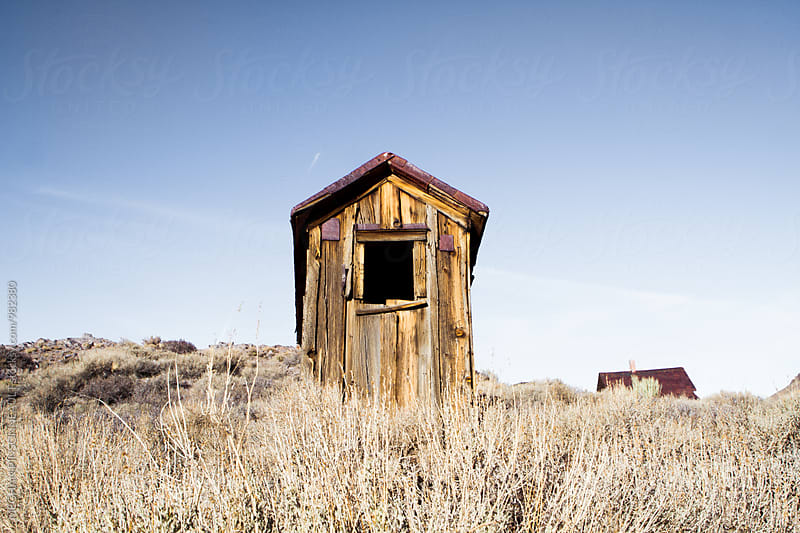 Creepy Ghost Town from the Gold Rush by MEGHAN PINSONNEAULT for Stocksy United