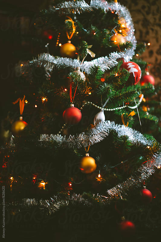 home holiday tree by Alexey Kuzma for Stocksy United