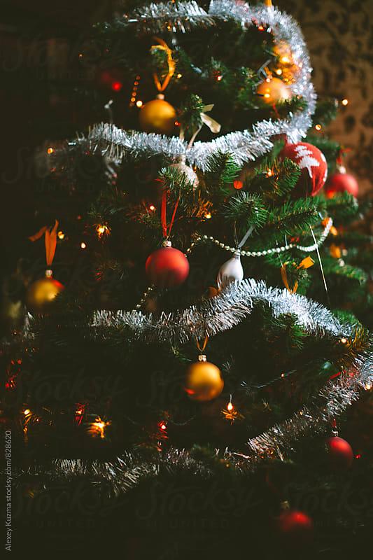 home holiday tree by Vesna for Stocksy United
