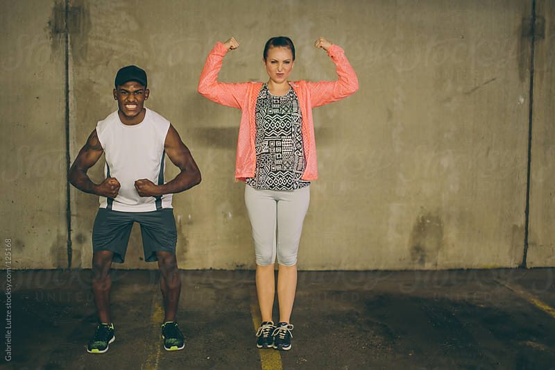 Couple Hanging Out After Exercising  by Gabrielle Lutze for Stocksy United