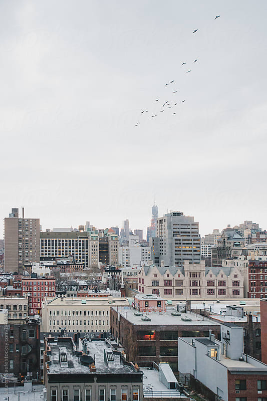 Vertical skyline of New York City by Lauren Naefe for Stocksy United