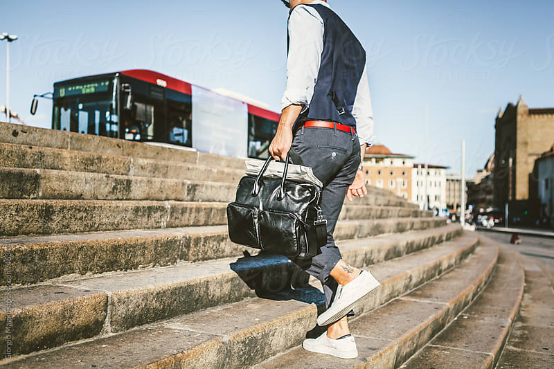 Modern Fashionable Commuter in Hurry by Giorgio Magini for Stocksy United