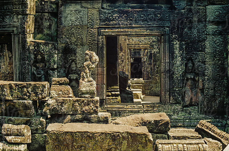 Fragments of an ancient temple. Angkor Wat. by Yury Goryanoy for Stocksy United