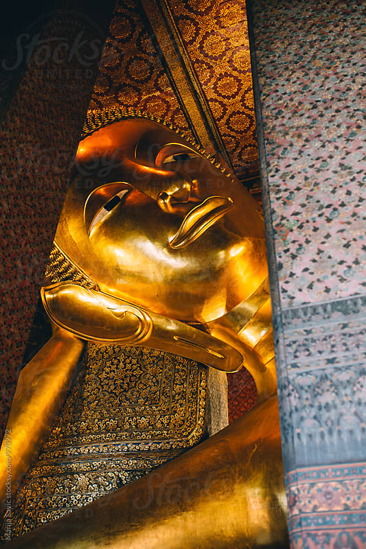 Big Golden Buddha, Wat Pho, Thailand by Marija Savic for Stocksy United