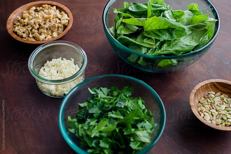 Pesto Ingredients by Lindsay Upson for Stocksy United