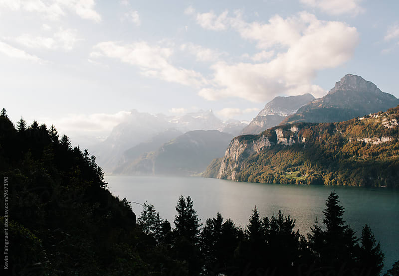 Lake Lucerna, Switzerland by Kevin Faingnaert for Stocksy United
