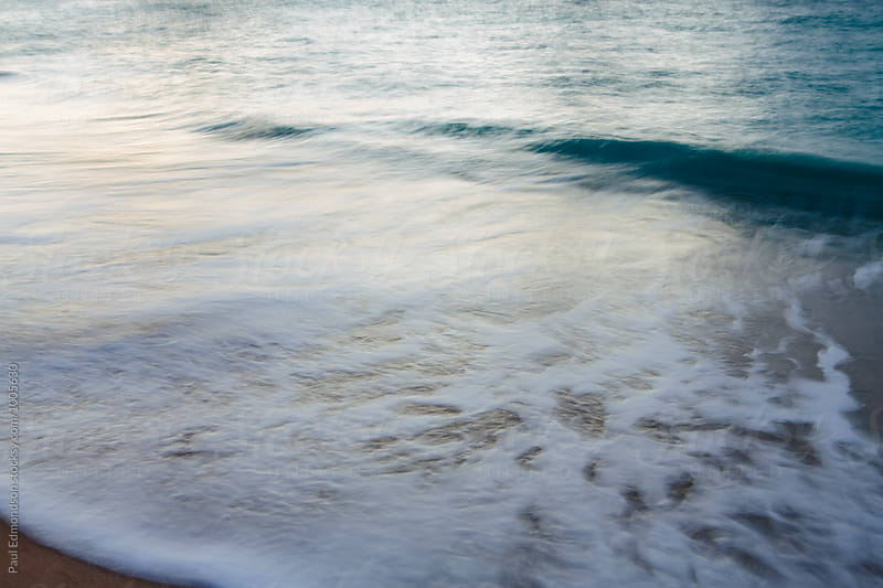 Breaking wave, long exposure, North Shore, Oahu, Hawaii by Paul Edmondson for Stocksy United