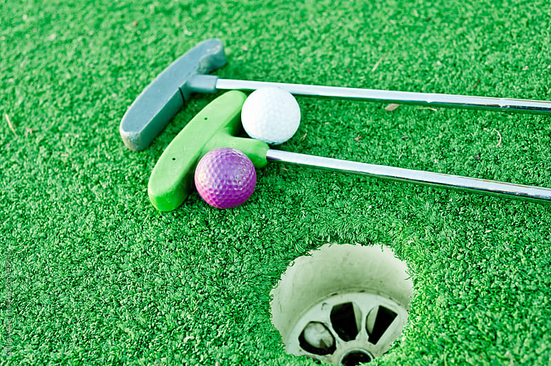 mini golf equipment by Gillian Vann for Stocksy United