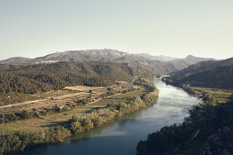 Overview of the Ebro river in Spain by Miquel Llonch for Stocksy United