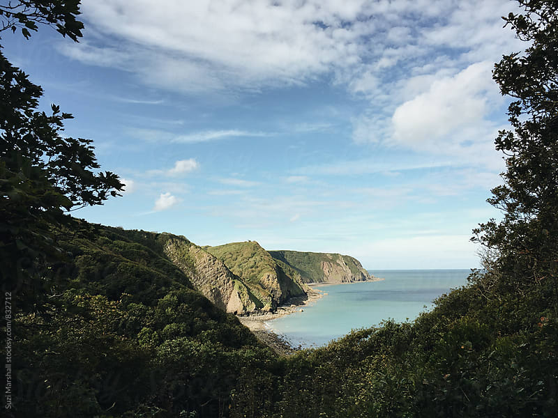 Sea and cliffs of North Devon by Suzi Marshall for Stocksy United