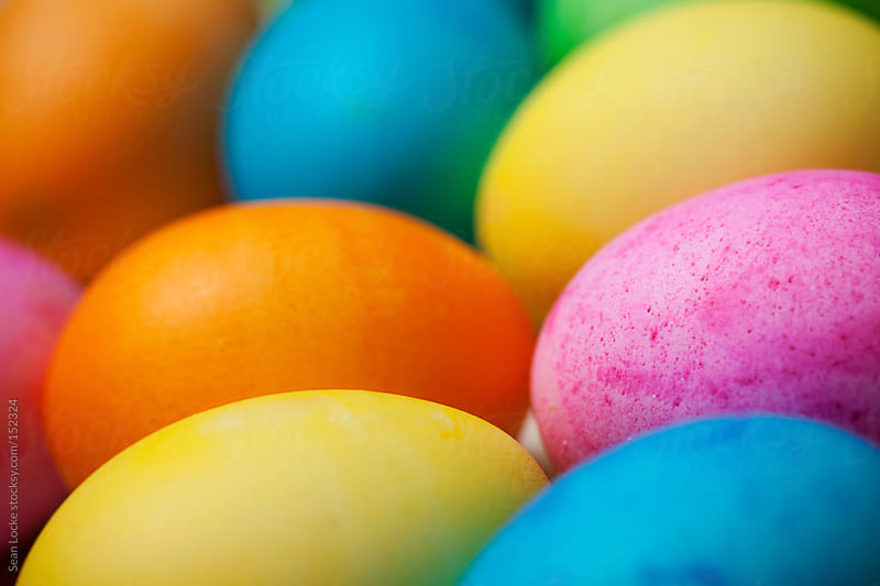 Easter: Vibrantly Colored Easter Eggs by Sean Locke for Stocksy United