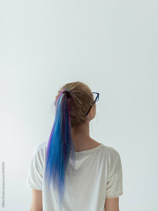 Girl with dyed hair by Milles Studio for Stocksy United