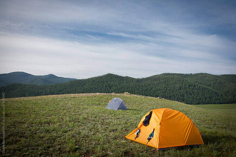 Camping Mongolia by Diane Durongpisitkul for Stocksy United