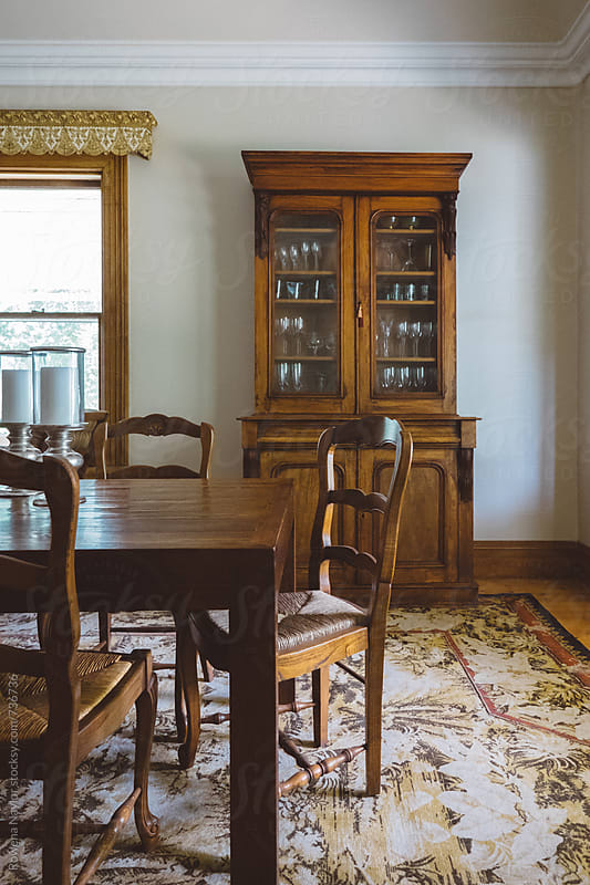 Dining Room in country homestead by Rowena Naylor for Stocksy United