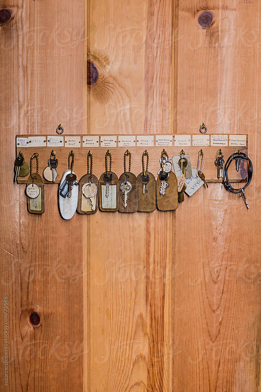 Collection of Vacation Cabin Keys by suzanne clements for Stocksy United