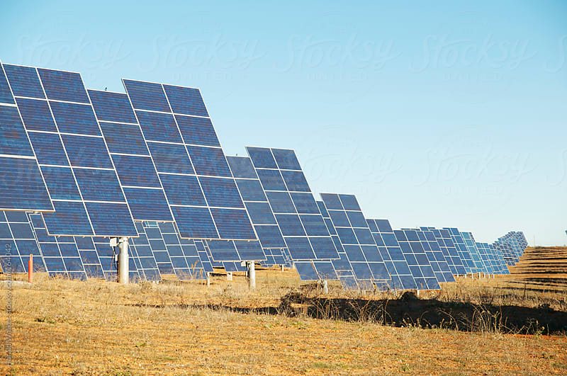 Solar park in Spain by Harald Walker for Stocksy United