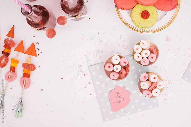 Sweets and Drinks with romantic Decoration Ready For Party by Katarina Radovic for Stocksy United