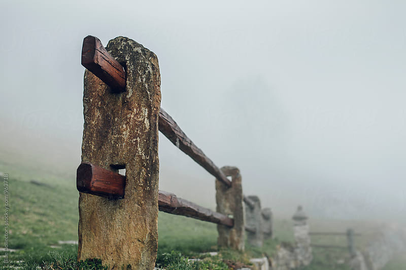 Typical stone fence of the fields Alps by Jordi Rulló for Stocksy United