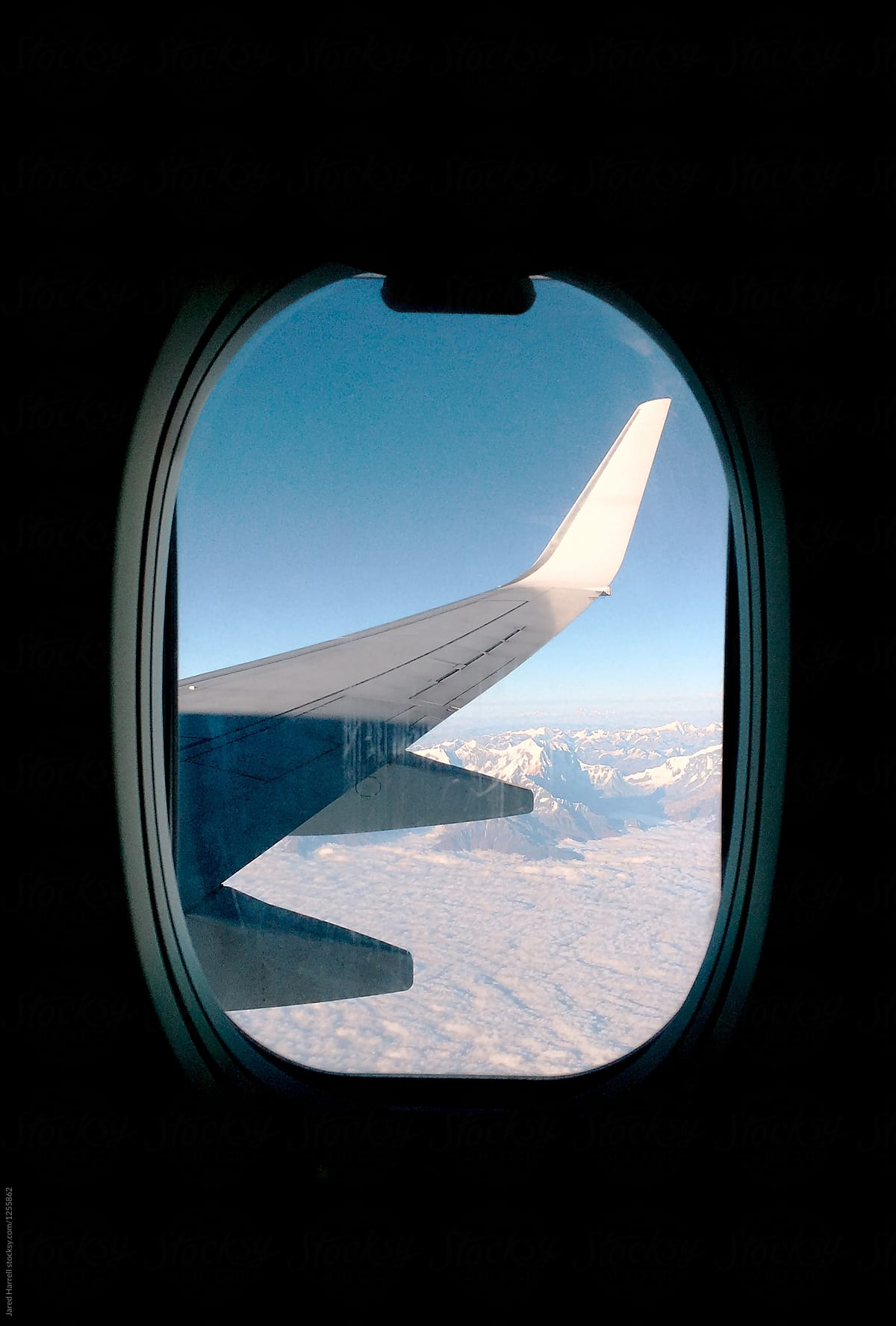 Airplane Window View Of The Himalayas In Nepal By Jared Harrell