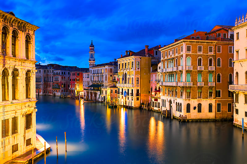 The Grand Canal in Venice (Italy) at the Blue Hour by Tom Uhlenberg for Stocksy United