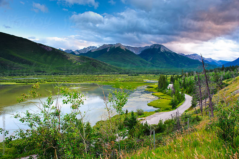 Banff National Park: Vermilion Lakes by Peter Wey for Stocksy United