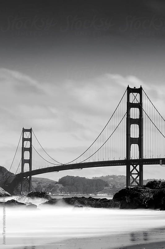 Golden Gate Bridge B&W by James Tarry for Stocksy United