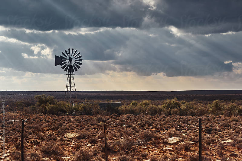 Old windmill in Karoo by Daxiao Productions for Stocksy United