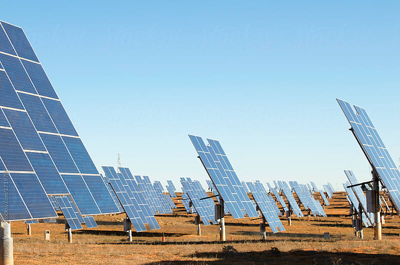 Solar park by Harald Walker for Stocksy United