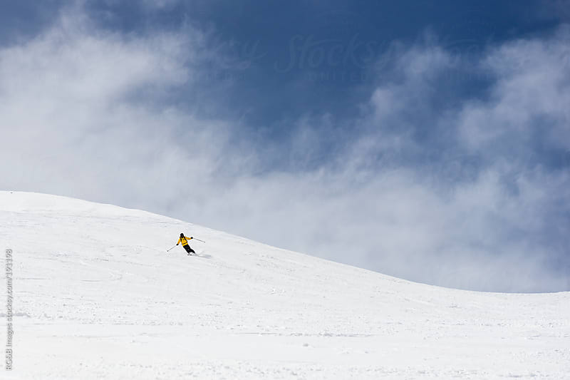Skier on the slope  by RG&B Images for Stocksy United