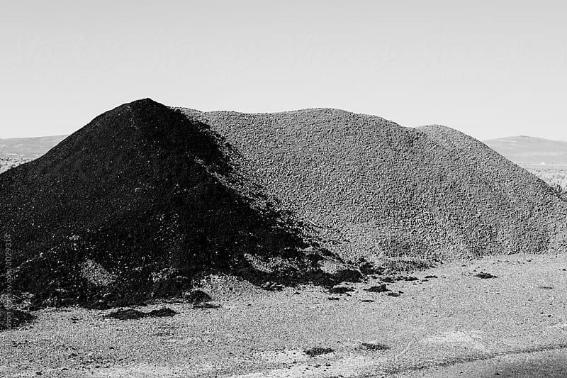 Gravel pile along road, near Jackpot, NV, USA by Paul Edmondson for Stocksy United