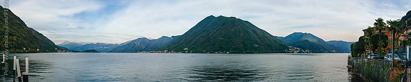 Panorama of lake Como  by Peter Wey for Stocksy United