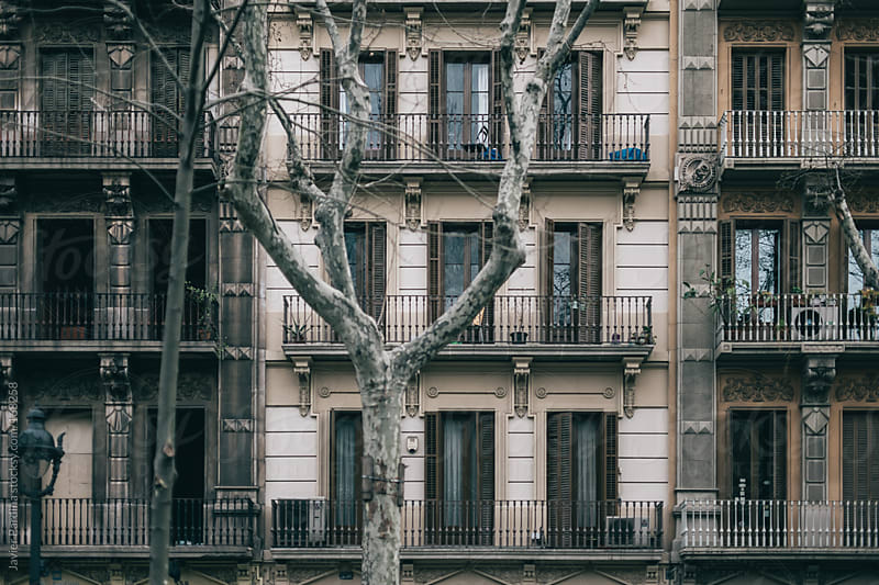 detail of a classic house in barcelona by Javier Pardina for Stocksy United