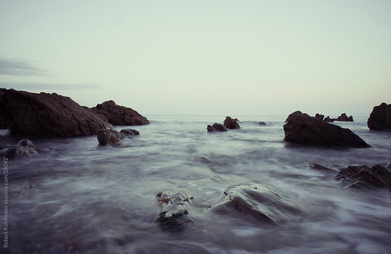 Sea and rocks in UK by Robert Kohlhuber for Stocksy United