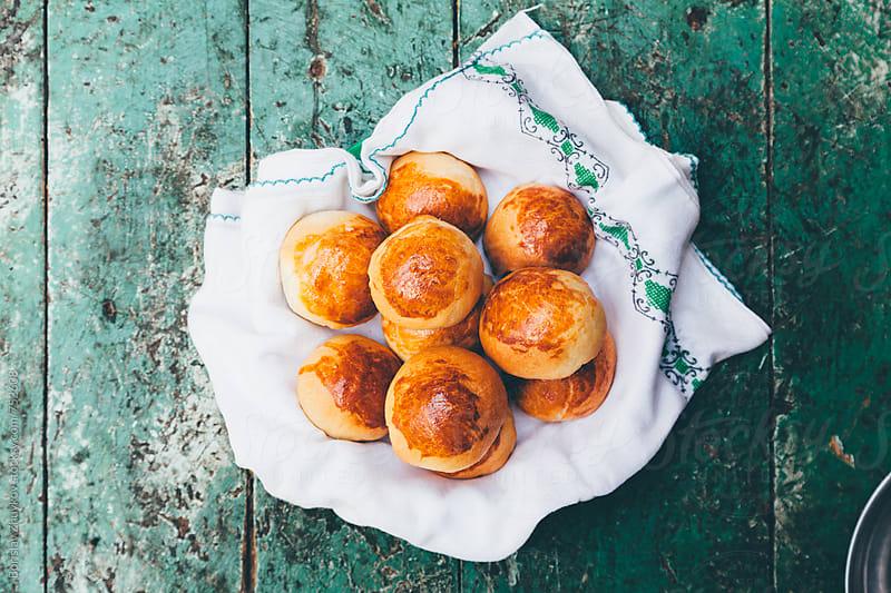 Rustic Homemade Bread Rolls by Borislav Zhuykov for Stocksy United