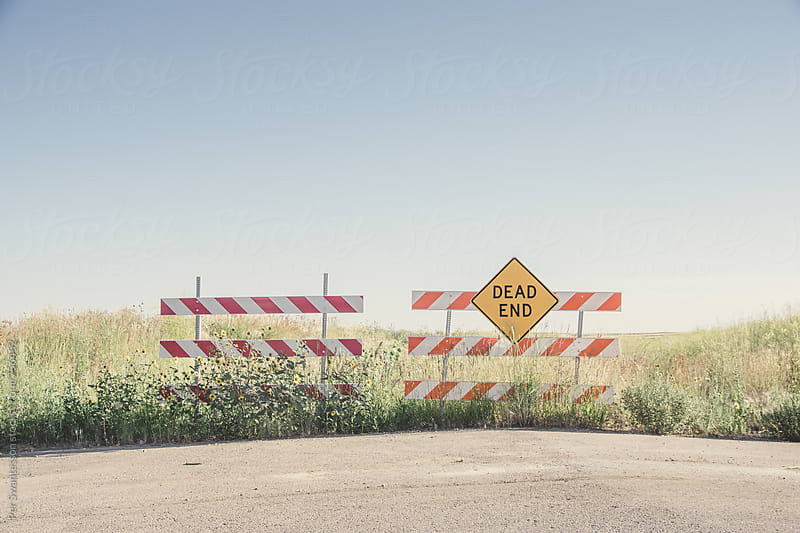 Dead End Road Sign by Per Swantesson for Stocksy United