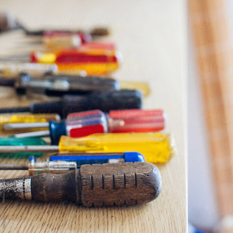 a collection of various screwdrivers by Margaret Vincent for Stocksy United